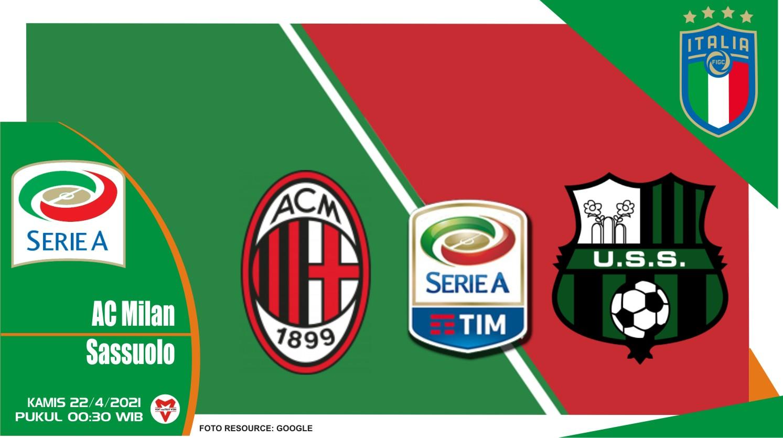 Prediksi Liga Italia: AC Milan vs Sassuolo - 22 April 2021