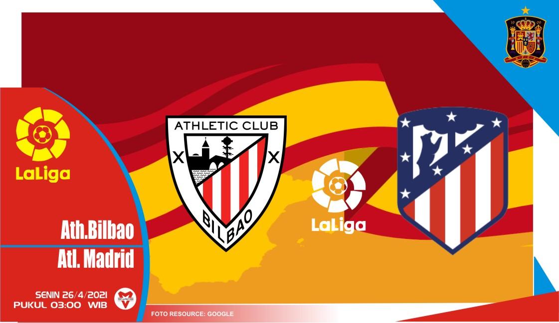 Prediksi Liga Spanyol: Athletic Bilbao vs Atletico Madrid - 26 April 2021