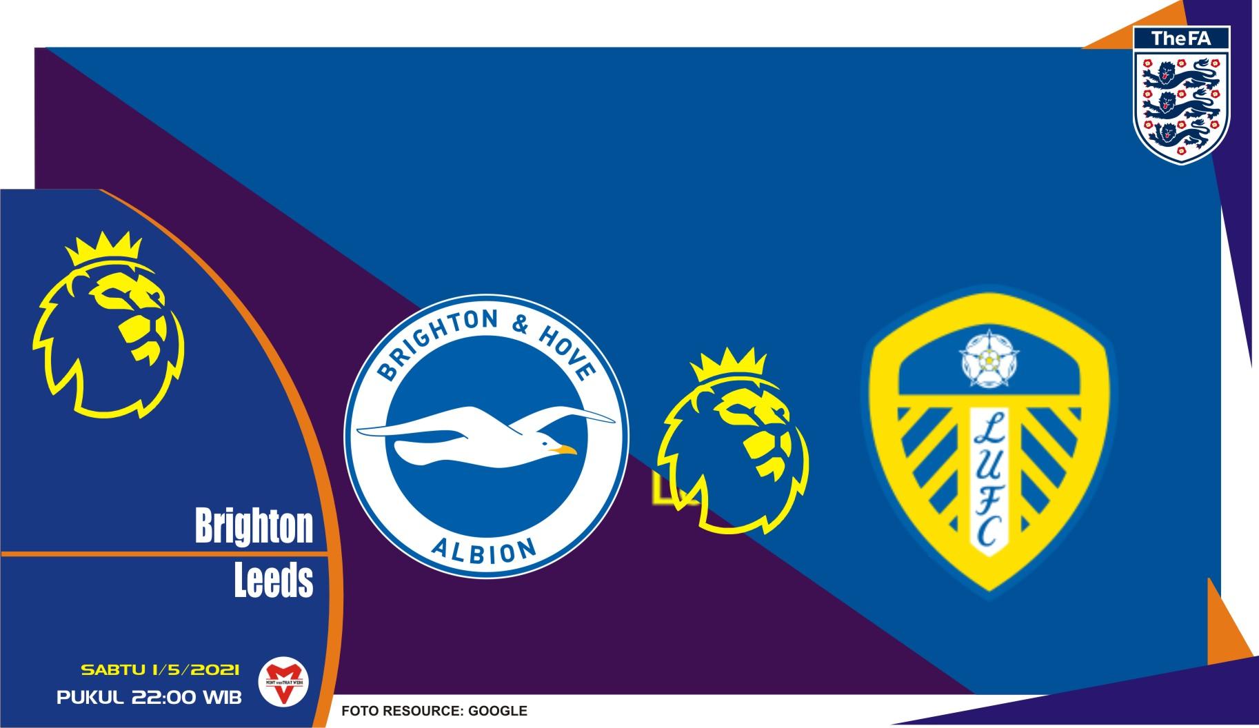Prediksi Liga Inggris: Brighton & Hove Albion vs Leeds United - 1 Mei 2021