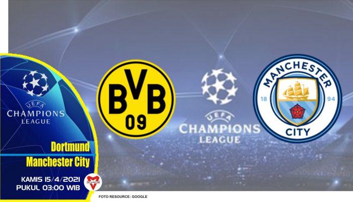 Prediksi Liga Champions: Dortmund vs Manchester City - 15 April 2021