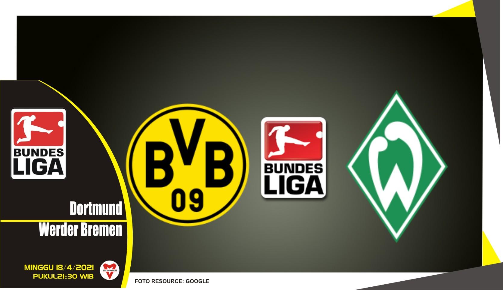 Prediksi Liga Jerman: Dortmund vs Werder Bremen - 18 April 2021