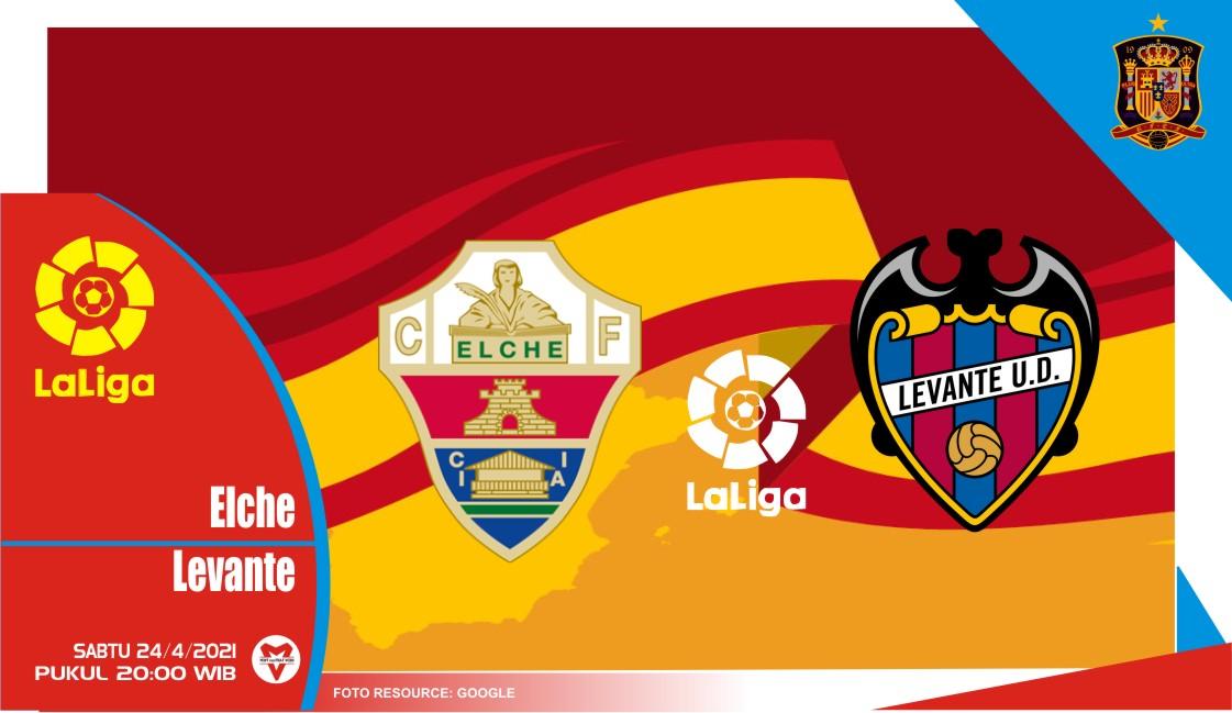 Prediksi Liga Spanyol: Elche vs Levante - 24 April 2021