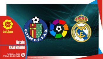 Prediksi Liga Spanyol: Getafe vs Real Madrid - 19 April 2021