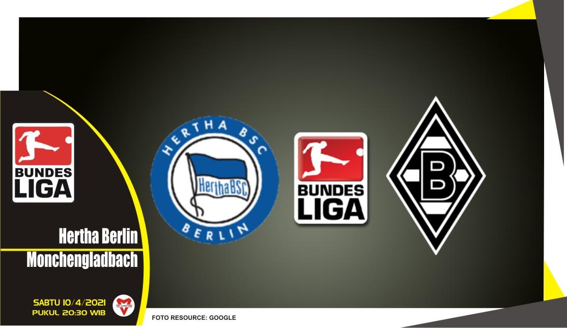 Prediksi Liga Jerman: Hertha Berlin vs Mönchengladbach - 10 April 2021