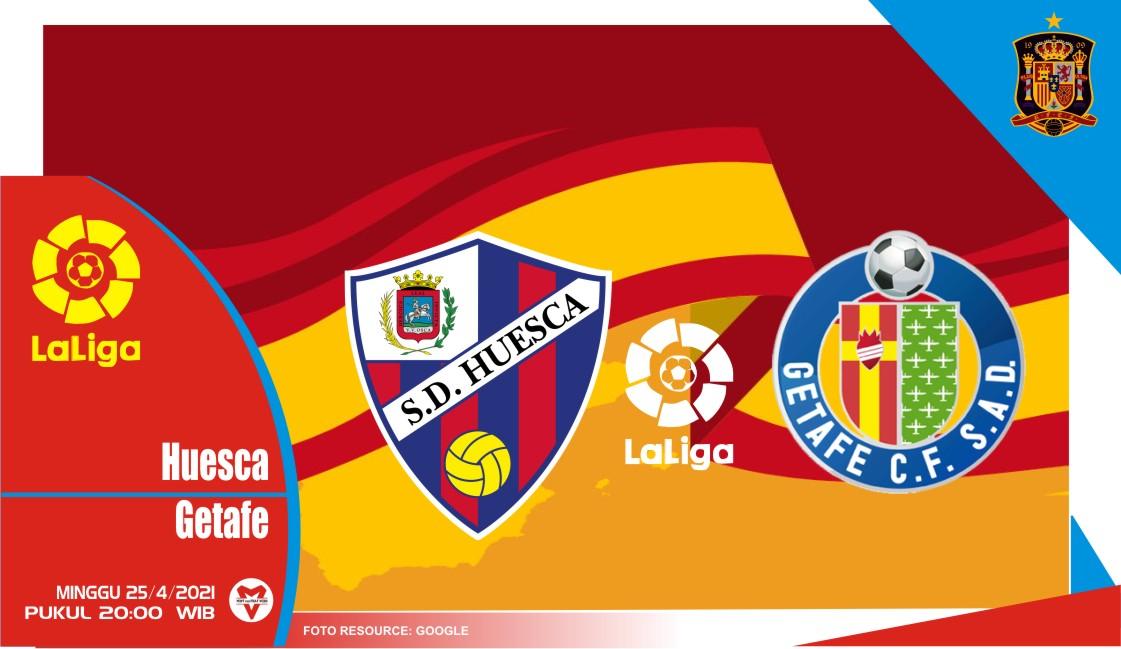 Prediksi Liga Spanyol: Huesca vs Getafe - 25 April 2021