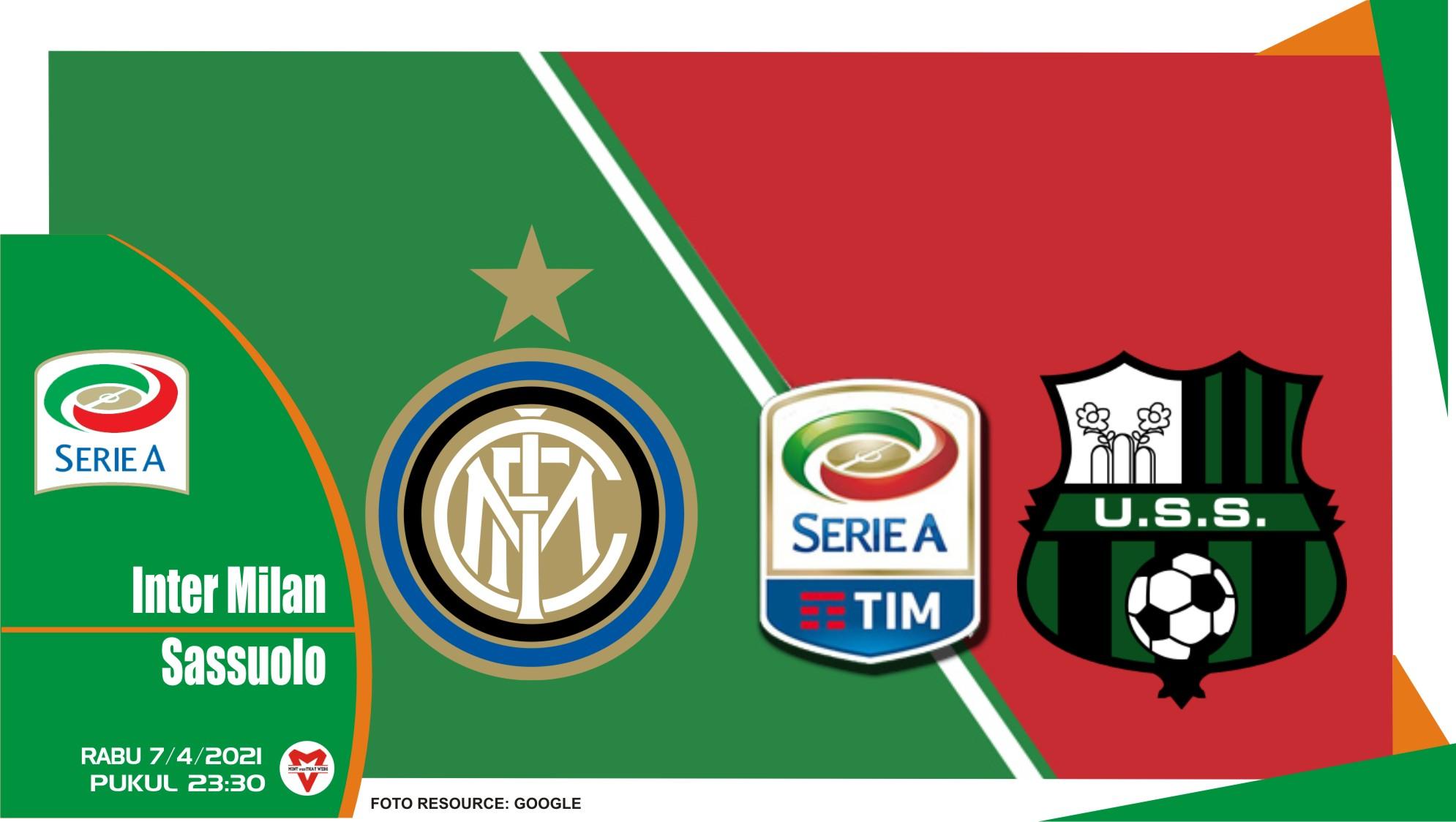 Prediksi Liga Italia: Inter Milan vs Sassuolo - 7 April 2021