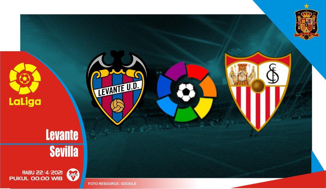 Prediksi Liga Spanyol: Levante vs Sevilla - 22 April 2021