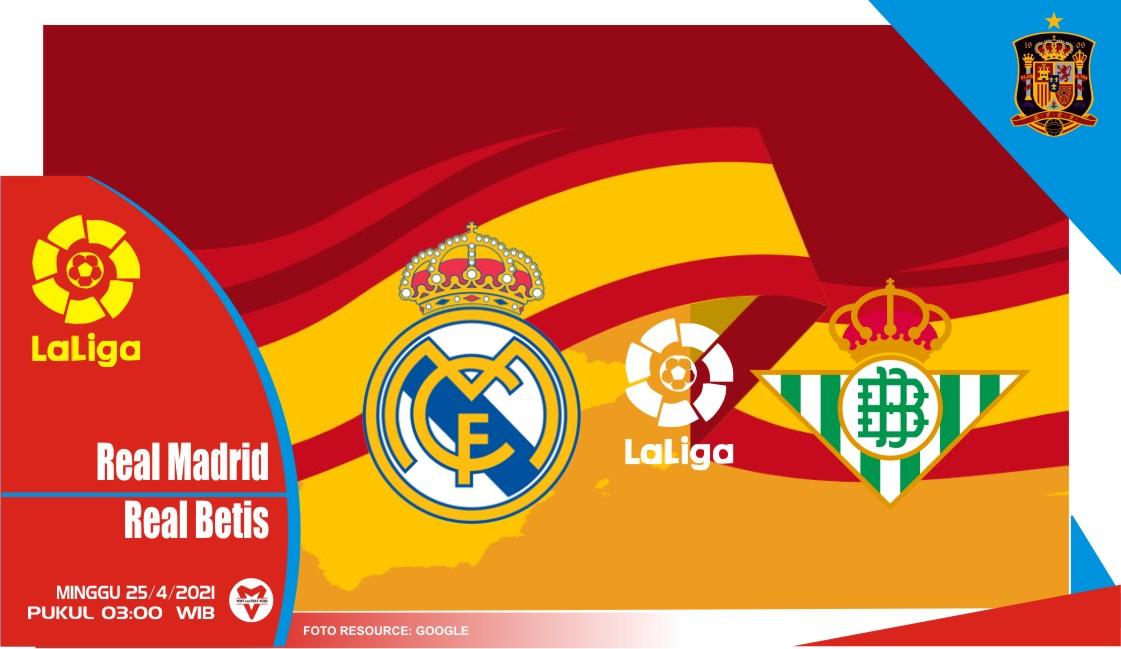 Prediksi Liga Spanyol: Real Madrid vs Real Betis - 25 April 2021
