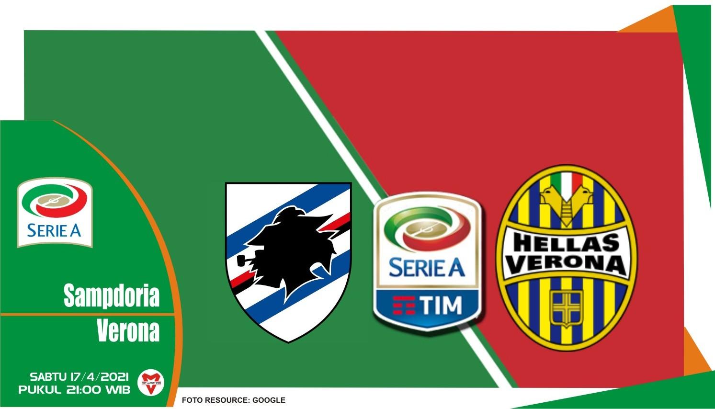 Prediksi Liga Italia: Sampdoria vs Hellas Verona - 17 April 2021