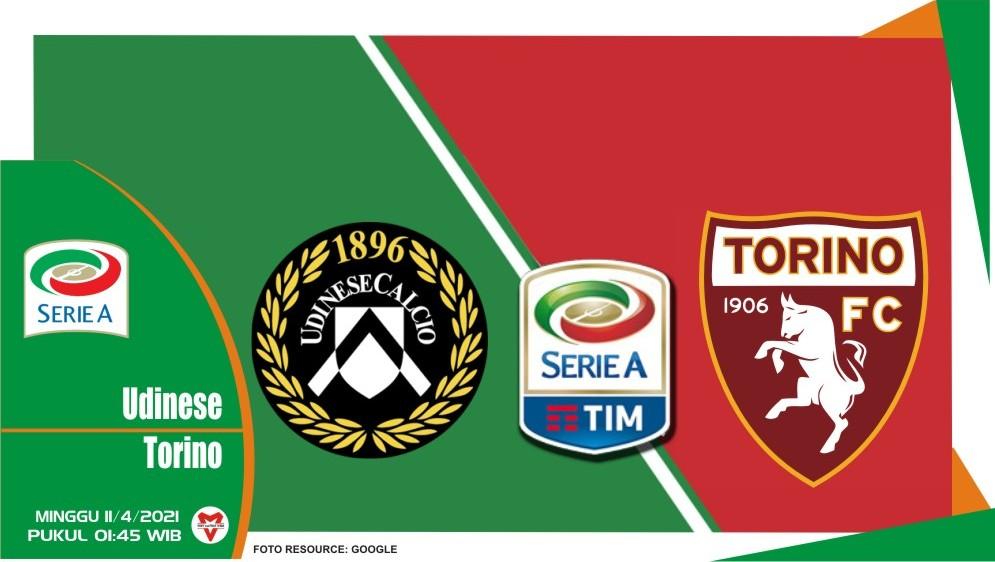 Prediksi Liga Italia: Udinese vs Torino - 11 April 2021