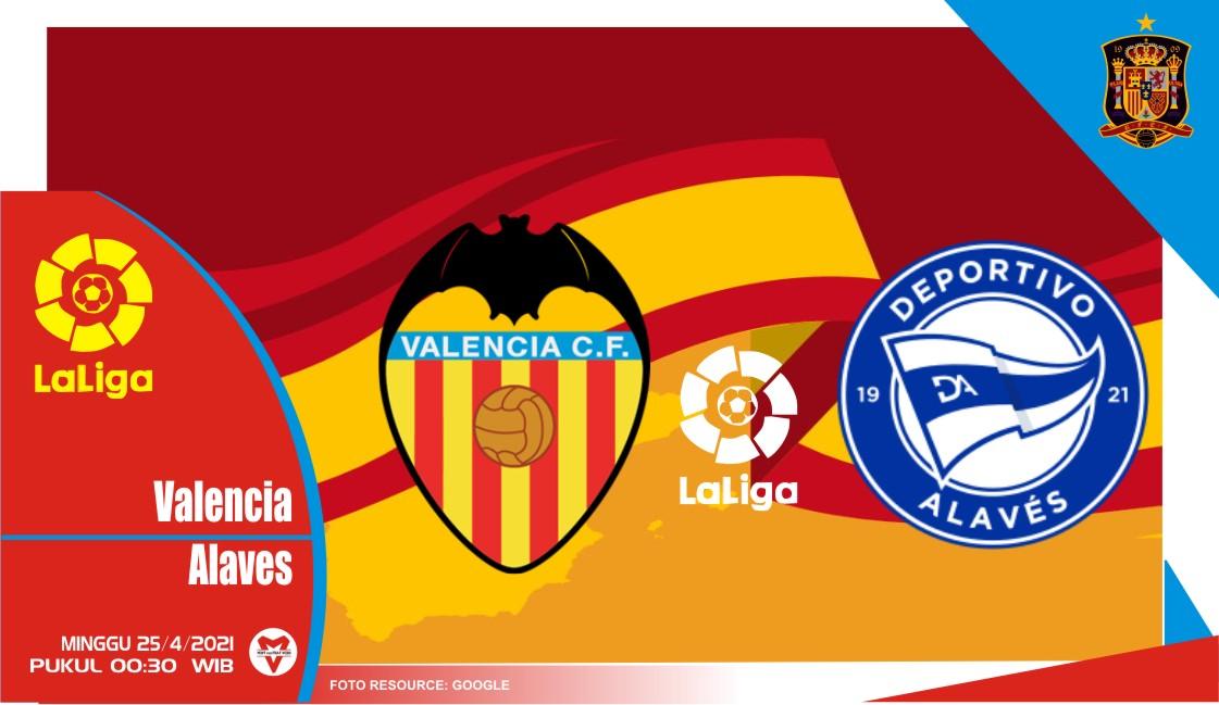 Prediksi Liga Spanyol: Valencia vs Alaves - 25 April 2021