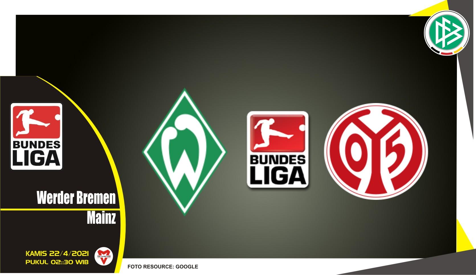 Prediksi Liga Jerman: Werder Bremen vs Mainz 05 - 22 April 2021