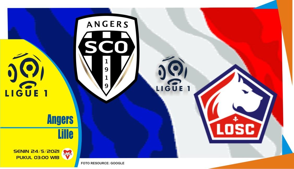 Angers vs Lille , Prediksi Pertandingan Liga Prancis 24 Mei 2021
