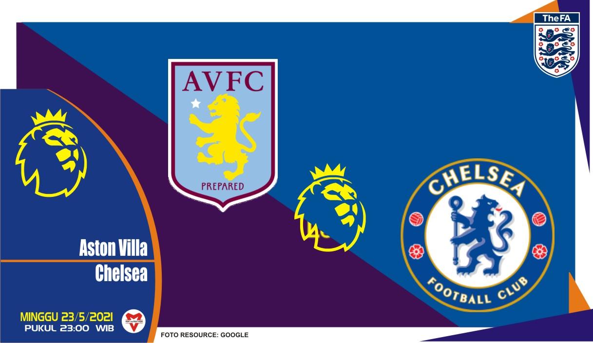Aston Villa vs Chelsea, Prediksi Liga Inggris 23 Mei 2021