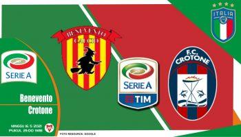 Benevento vs Crotone, Prediksi Liga Italia 16 Mei 2021