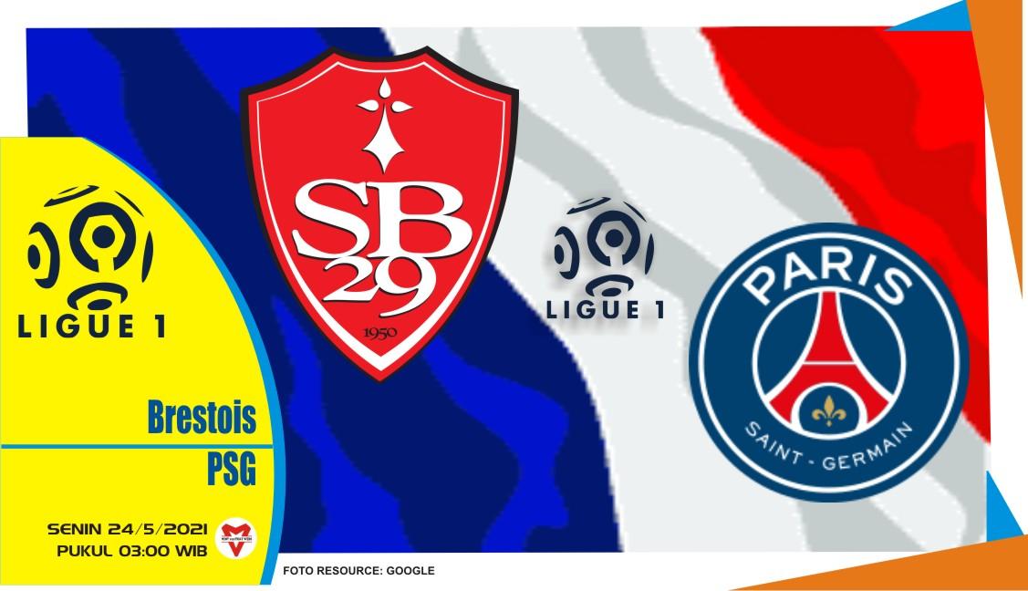 Brest vs Paris Saint-Germain, Prediksi Pertandingan Liga Prancis 24 Mei 2021