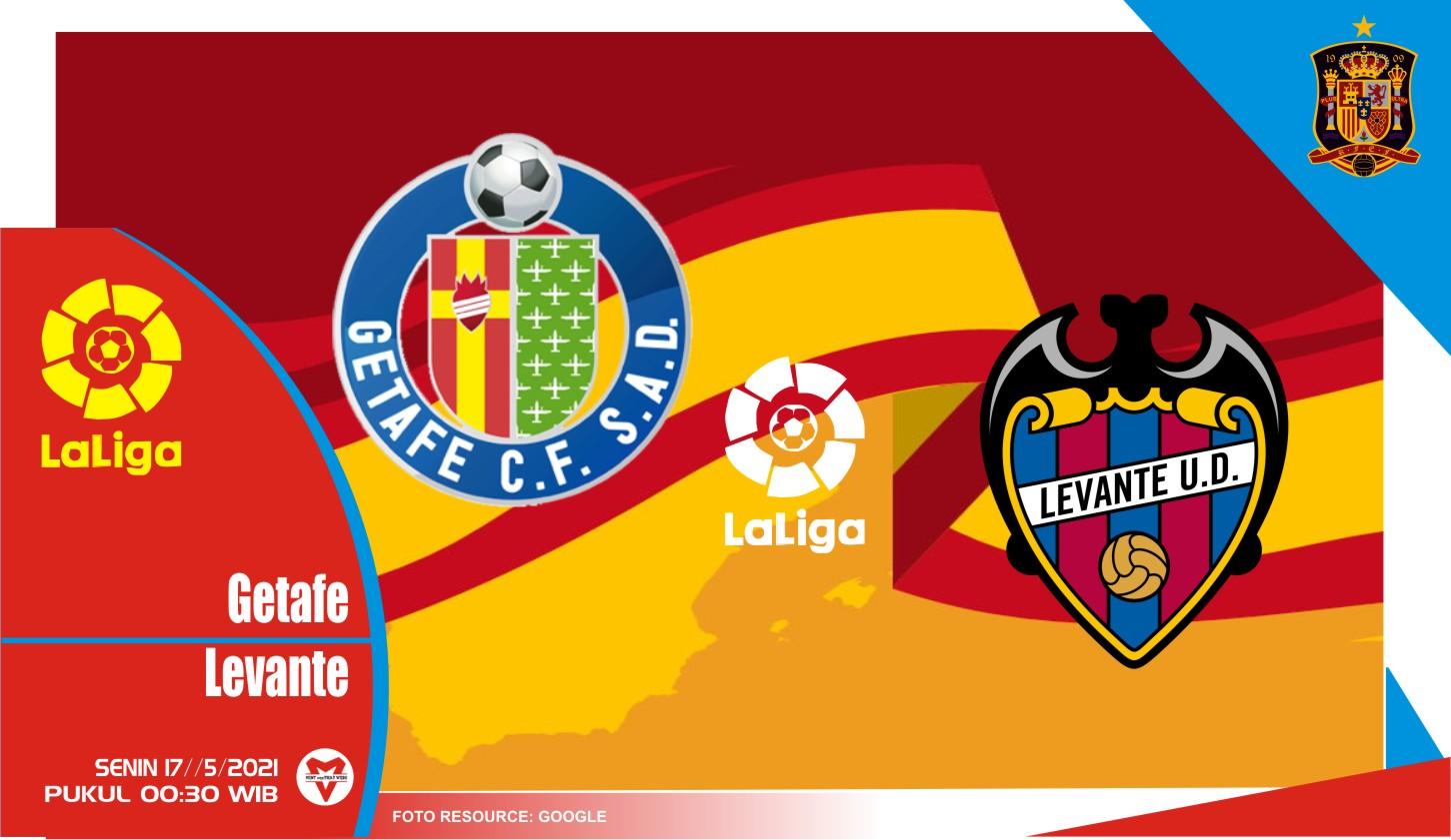 Getafe vs Levante, Prediksi Liga Spanyol 17 Mei 2021