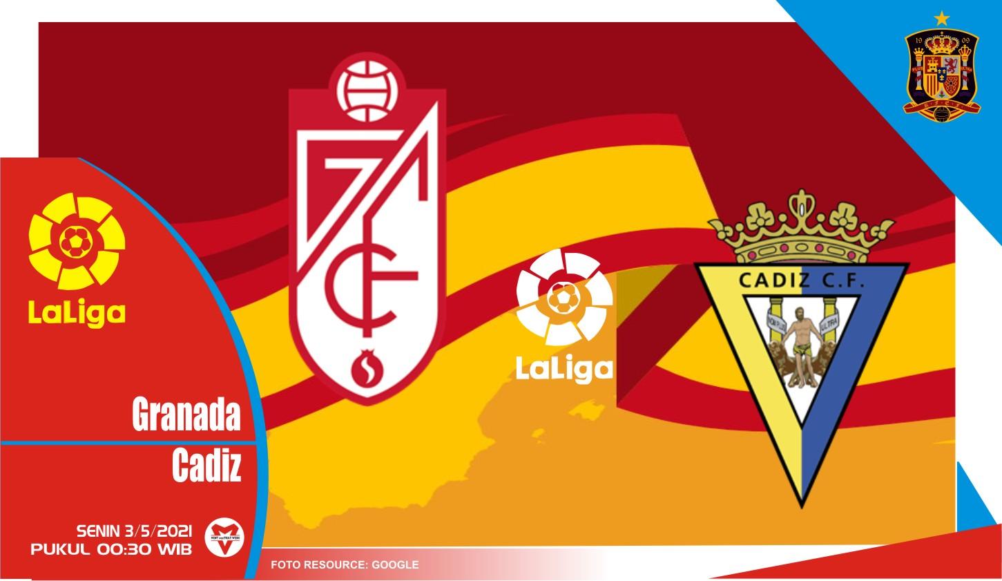 Prediksi Liga Spanyol: Granada vs Cadiz - 3 Mei 2021