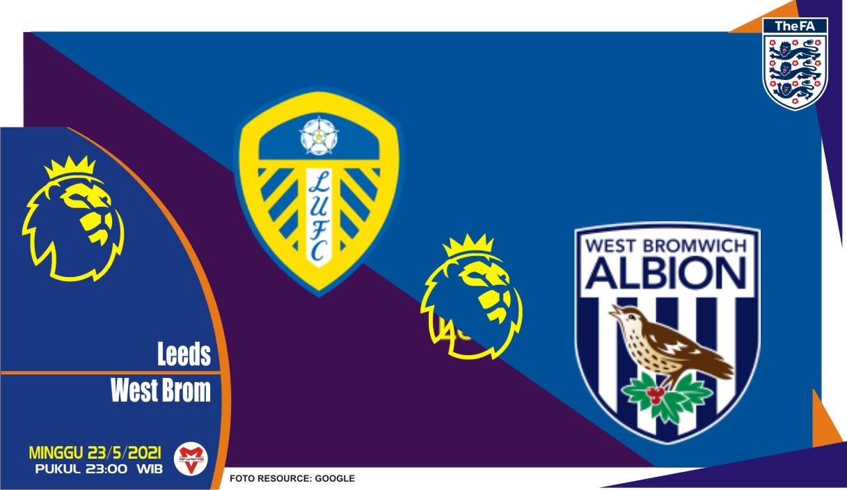 Leeds United vs West Bromwich, Prediksi Liga Inggris 23 Mei 2021