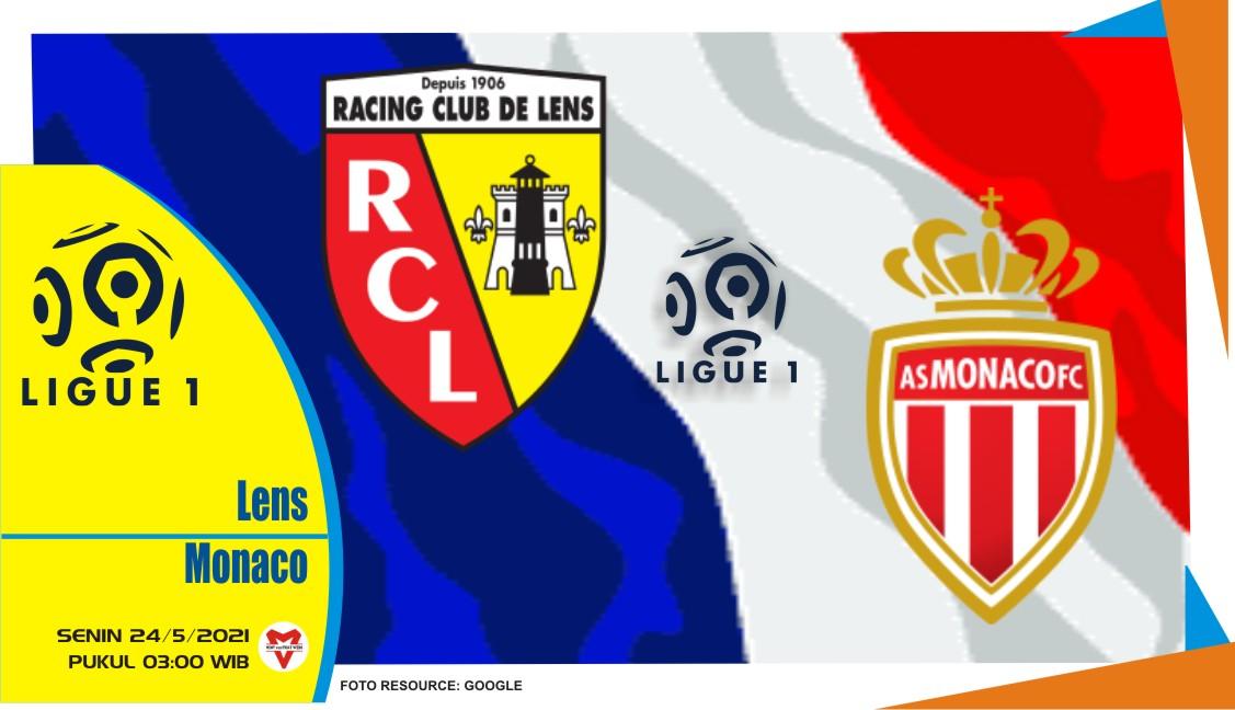 Lens vs Monaco, Prediksi Pertandingan Liga Prancis 24 Mei 2021