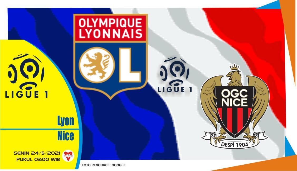 Lyon vs Nice, Prediksi Pertandingan Liga Prancis 24 Mei 2021
