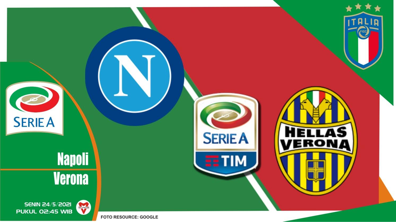 Napoli vs Hellas Verona, Prediksi Pertandingan Liga Italia 23 Mei 2021