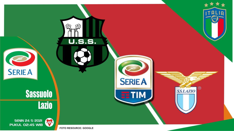 Sassuolo vs Lazio, Prediksi Pertandingan Liga Italia 23 Mei 2021