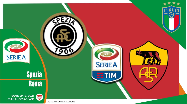 Spezia vs Roma, Prediksi Pertandingan Liga Italia 23 Mei 2021