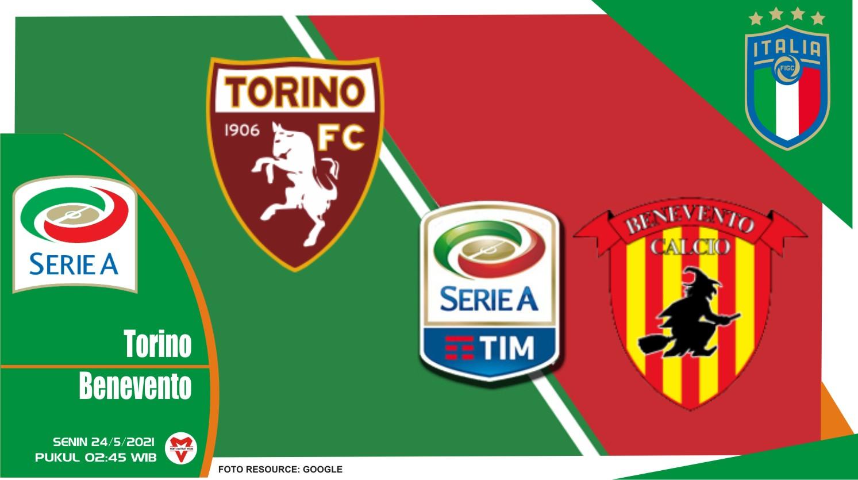 Torino vs Benevento, Prediksi Pertandingan Liga Italia 23 Mei 2021
