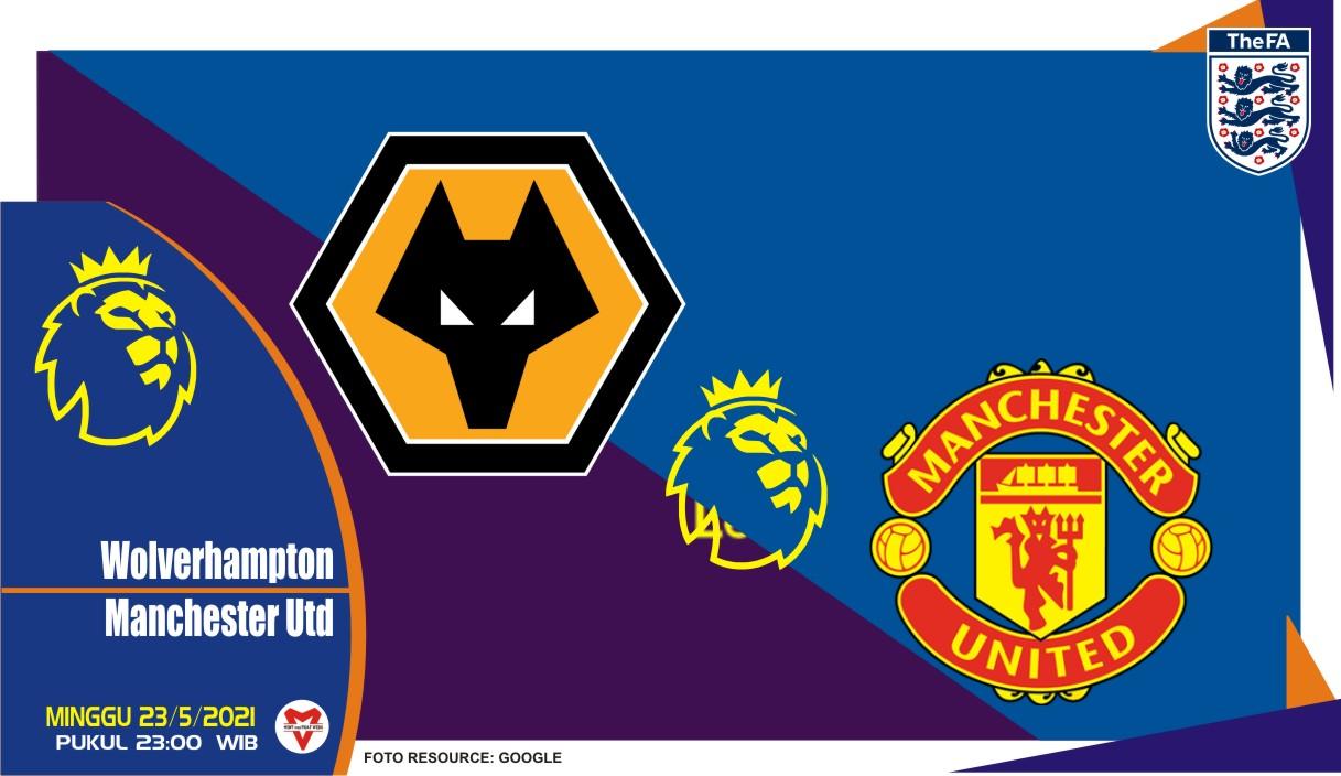 Wolverhampton vs Manchester United, Prediksi Liga Inggris 23 Mei 2021
