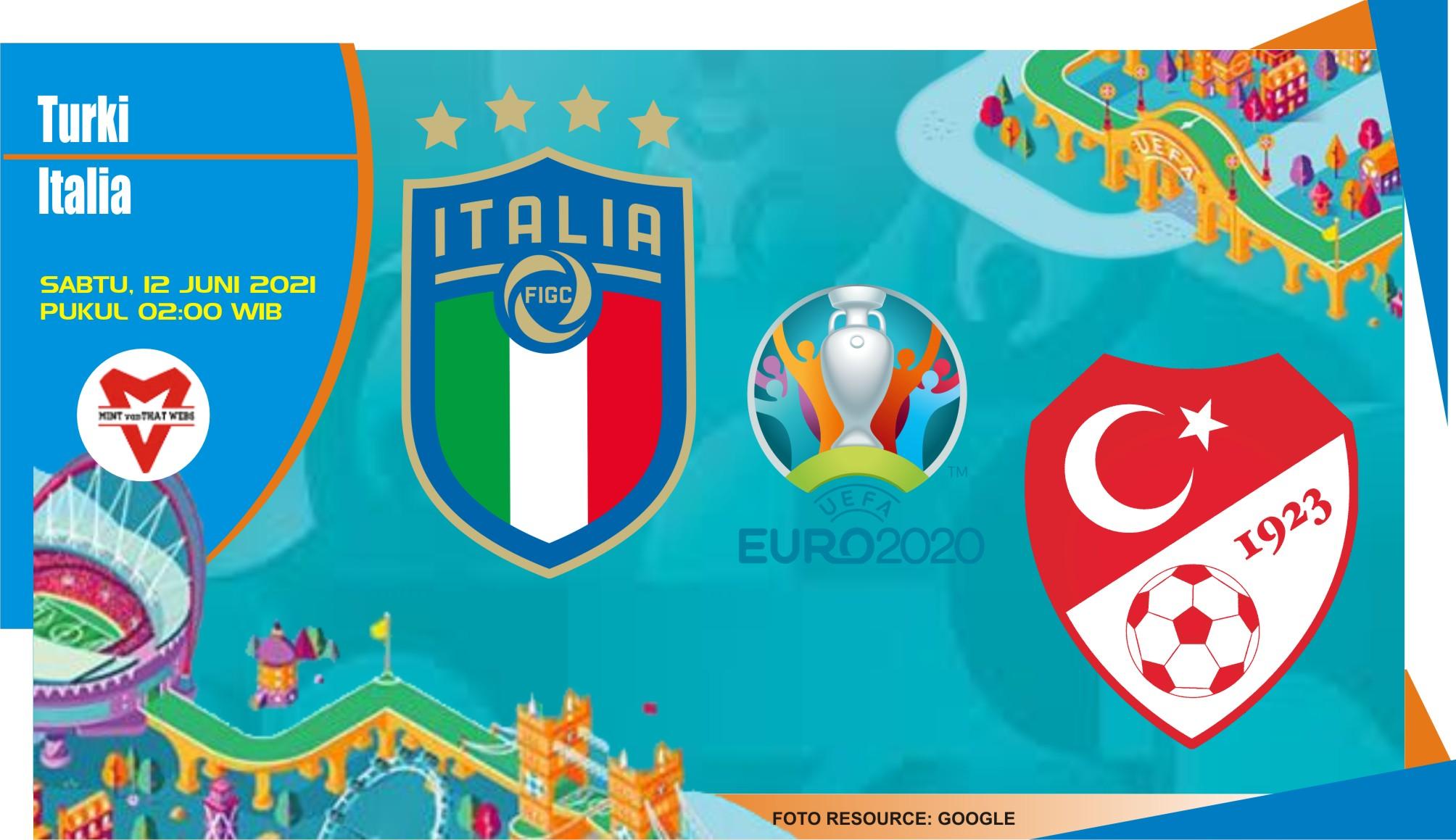 Prediksi Turki vs Italia, Laga Piala Eropa 12 Juni 2021