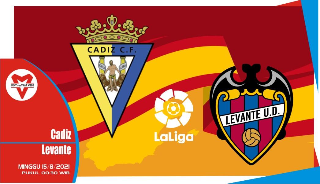 Prediksi Cadiz vs Levante - Liga Spanyol 15 Agustus 2021