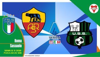 Prediksi Roma vs Sassuolo - Serie A Italia 13 September 2021