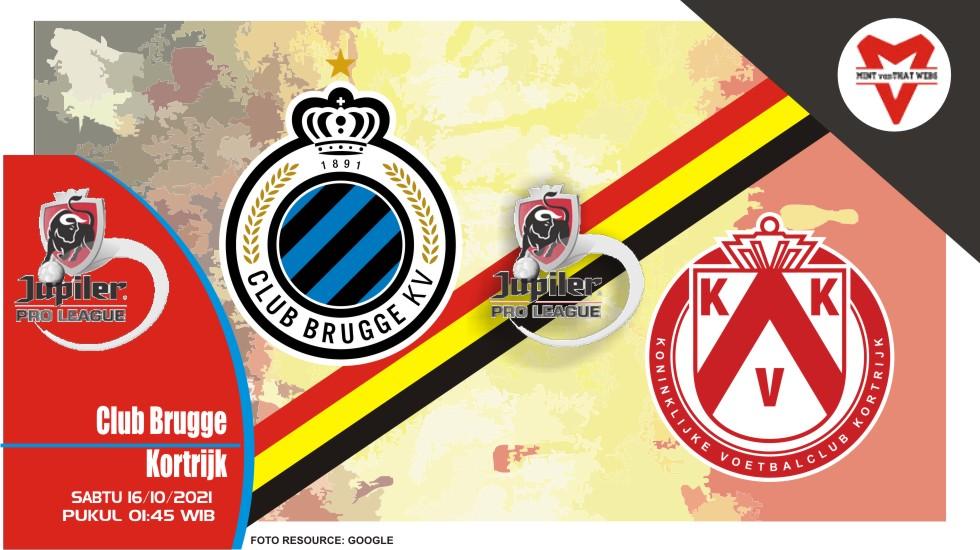 Prediksi Brugge vs Kortrijk - Liga Belgia 16 Oktober 2021
