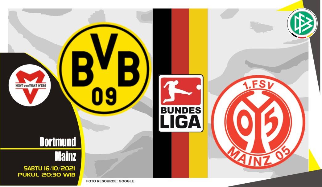 Prediksi Dortmund vs Mainz - Bundesliga 16 Oktober 2021