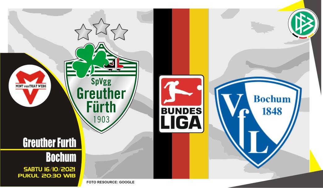 Prediksi Greuther vs Bochum - Bundesliga 16 Oktober 2021