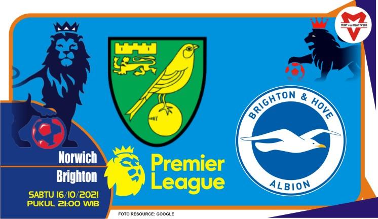 Prediksi Norwich vs Brighton - Liga Inggris 16 Oktober 2021